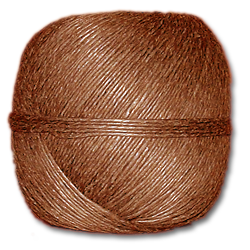 4000BR - Brown 20 lb. (±1mm) Polished Hemp Twine