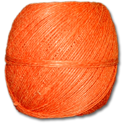 4000OR - Orange 20 lb. (±1mm) Polished Hemp Twine
