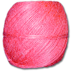 4000PK - Pink 20 lb. (±1mm) Polished Hemp Twine