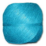 4000TU - Turquoise 20 lb. (±1mm) Polished Hemp Twine