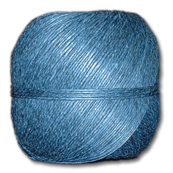 4000BL - Blue 20 lb. (±1mm) Polished Hemp Twine