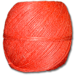 4000RD - Red 20 lb. (±1mm) Polished Hemp Twine