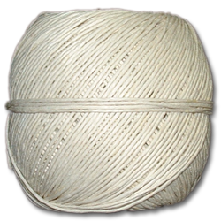 4000WH - White 20 lb. (±1mm) Polished Hemp Twine