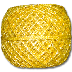 4100YW - 20 lb. Unpolished Yellow Hemp Twine